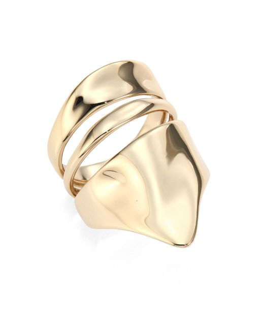 Alexis Bittar | Metallic Liquid Gold Armor Ring | Lyst