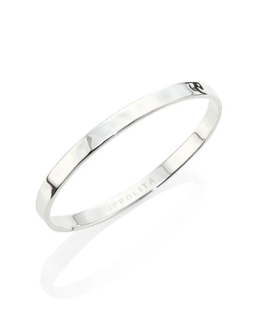 Ippolita   Metallic Sensotm Medium Sterling Silver Bangle Bracelet   Lyst
