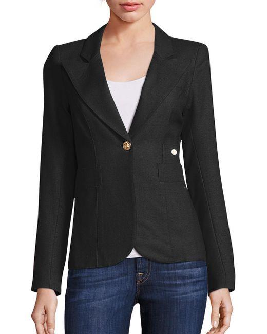 Smythe | Black Duchess Wool Blazer | Lyst