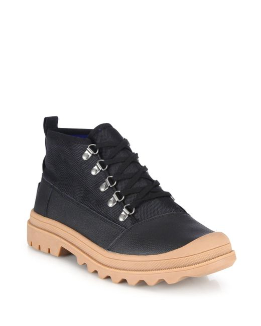 toms cordova water resistant leather boots in black for