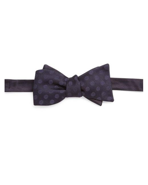 Saks Fifth Avenue | Blue Dot Patterned Silk Bow Tie for Men | Lyst
