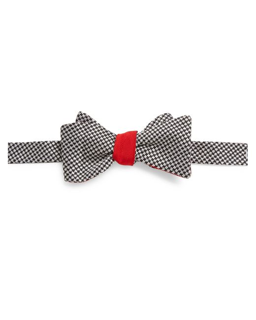 Saks Fifth Avenue | White Houndstooth Silk Bow Tie for Men | Lyst