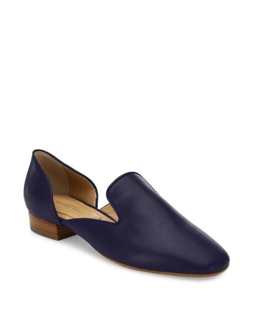 Michael Kors   Blue Fielding Leather Loafers   Lyst