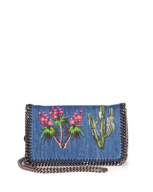 Stella mccartney mini falabella embroidered denim