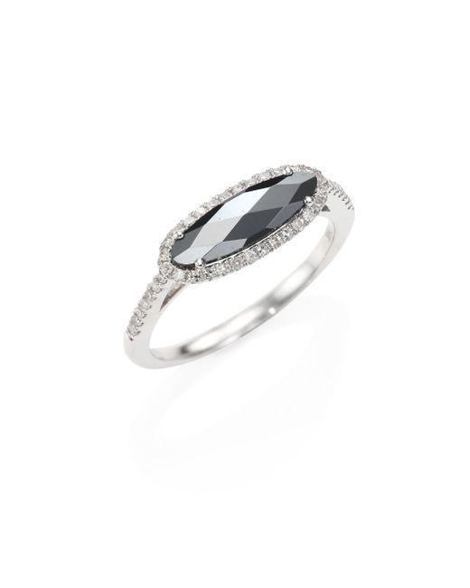 Meira T | Metallic Diamond, Hematite & 14k White Gold Ring | Lyst