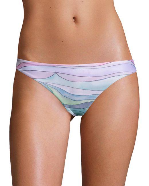 Mara Hoffman | Blue Waves Low-rise Bikini Bottom | Lyst