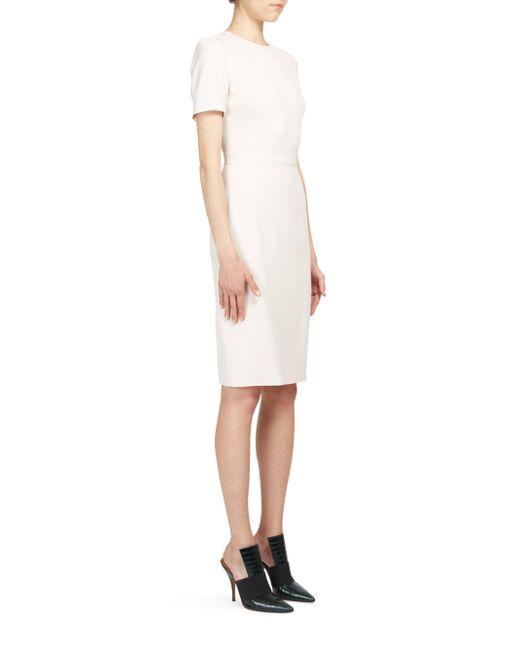 Givenchy   White Anna Short-sleeve Cady Dress   Lyst