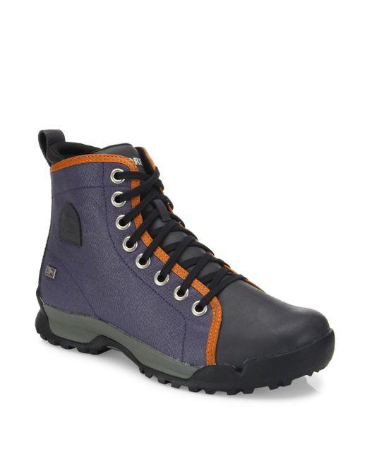 sorel paxson 64 outdry low heel boots lyst