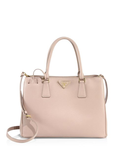 Prada | Pink Saffiano Leather Tote | Lyst