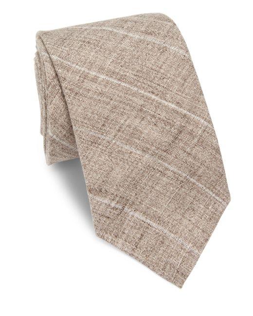 Brunello Cucinelli | Brown Diagonal Striped Tie for Men | Lyst