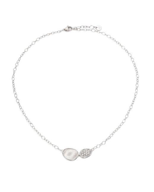 Marco Bicego | Metallic Lunaria Diamond & 18k White Gold Pendant Necklace | Lyst