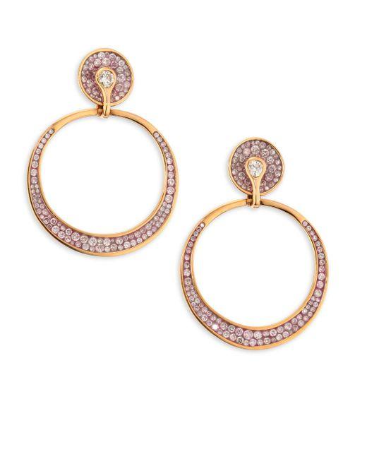 Plevé | Metallic Opus Pink Diamond & 18k Rose Gold Hoop Earrings | Lyst