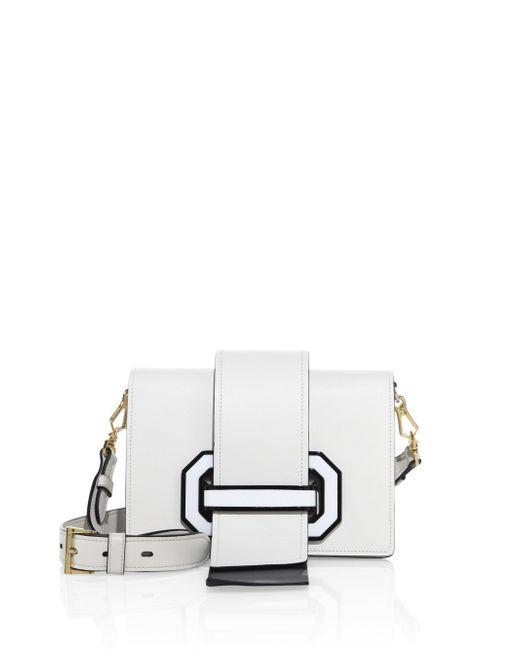 Prada | White City Two-tone Leather Crossbody Bag | Lyst
