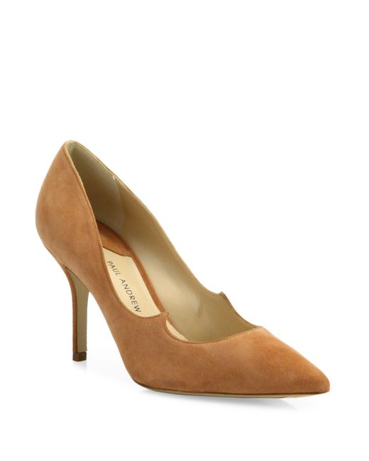 Paul Andrew | Multicolor Kimura Suede Point Toe Pumps | Lyst