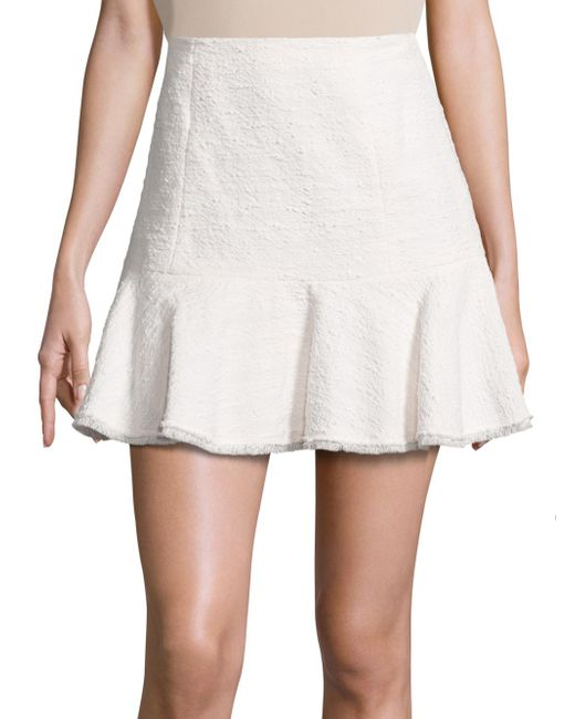 Rebecca Taylor | White Textured Tweed Skirt | Lyst