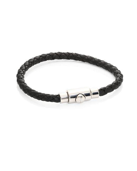 Ferragamo | Brown Men's Braided Leather Bracelet | Lyst