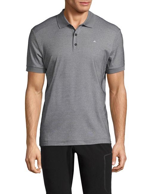 J.Lindeberg | Gray Martin Solid Polo for Men | Lyst
