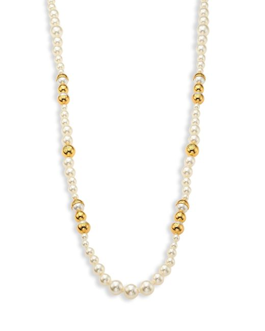 Tory Burch   White Capped Faux-pearl Strand Necklace/39   Lyst