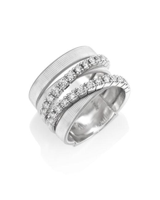 Marco Bicego   Metallic Masai Diamond & 18k White Gold Five-strand Ring   Lyst