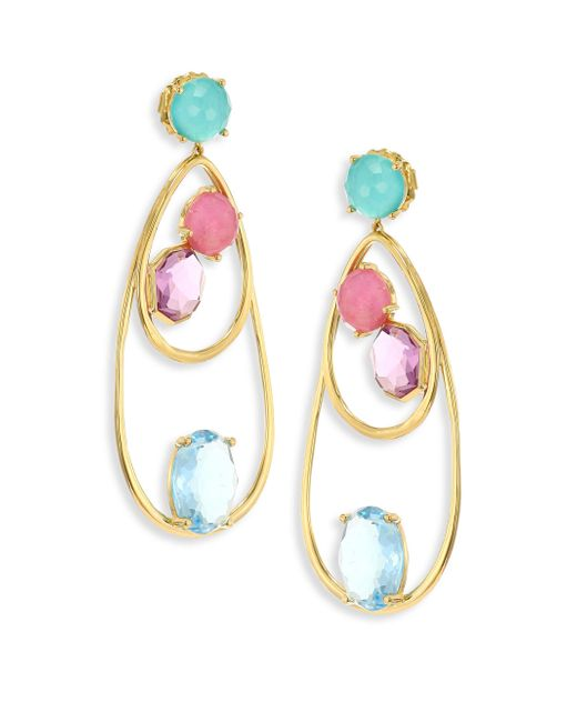 Ippolita | Metallic 18k Rock Candy Semi-precious Multi-stone Drop Dangle Earrings | Lyst