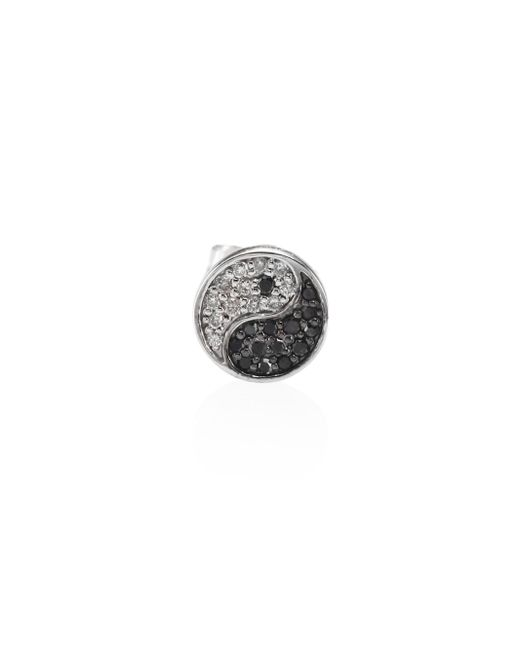 Sydney Evan   Yin-yang Black & White Diamond Single Stud Earring   Lyst