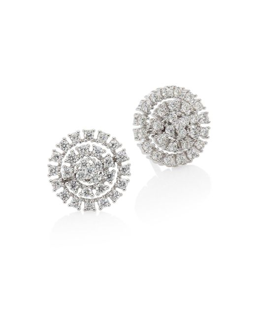Hueb | Metallic Spectrum Diamond & 18k White Gold Stud Earrings | Lyst