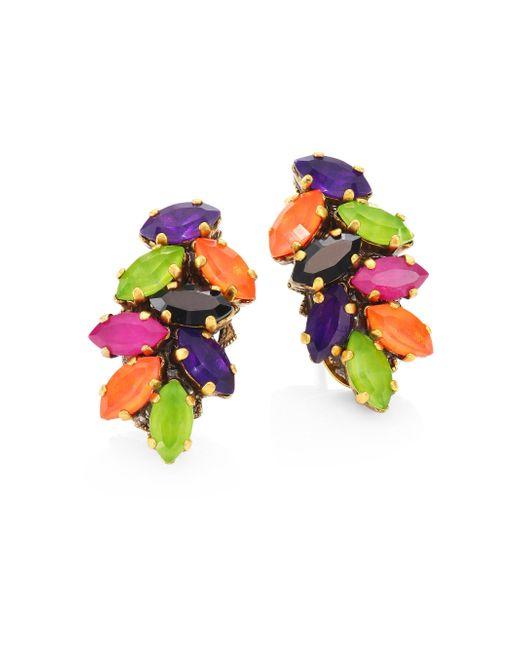 Erickson Beamon   Multicolor Technicolor Crystal Stud Earrings   Lyst