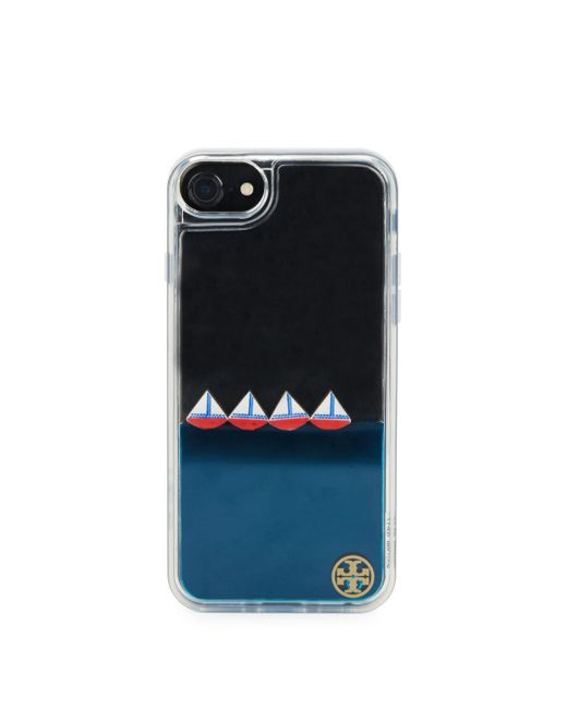 Tory Burch | Black Sailboat Hardshell Iphone 7 Case | Lyst