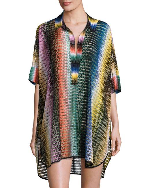 Missoni | Multicolor Rete Sfumata Swim Shirt | Lyst