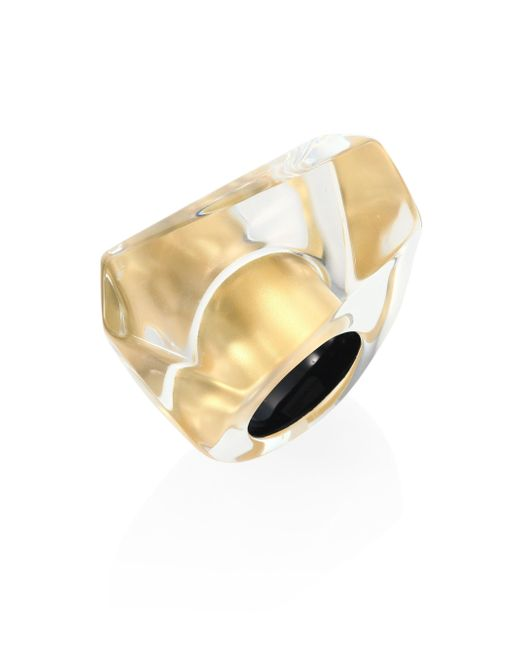 Alexis Bittar | Metallic Large Faceted Lucite Cocktail Ring | Lyst