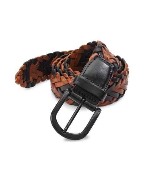 Saks Fifth Avenue   Multicolor Braided Belt for Men   Lyst