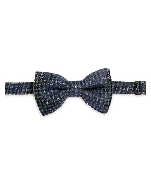 Saks Fifth Avenue   Blue Houndstooth Bow for Men   Lyst