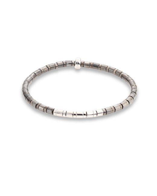 Tateossian | Metallic Bamboo Sterling Silver Bracelet | Lyst
