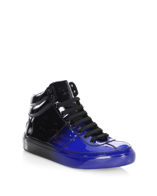 Jimmy Choo   Blue Degrade Leather High-top Sneakers for Men   Lyst