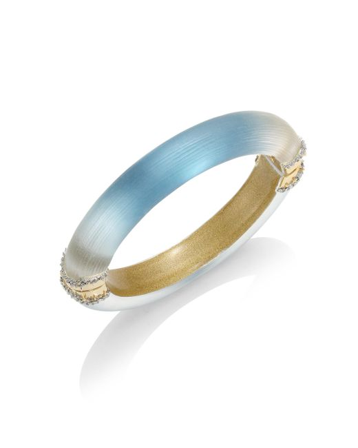 Alexis Bittar   Blue Lucite Ombre Hinged Bangle   Lyst