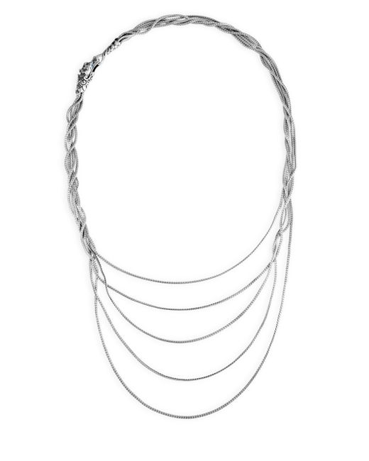 John Hardy   Metallic Legends Naga Black & Blue Sapphire Five-row Necklace   Lyst