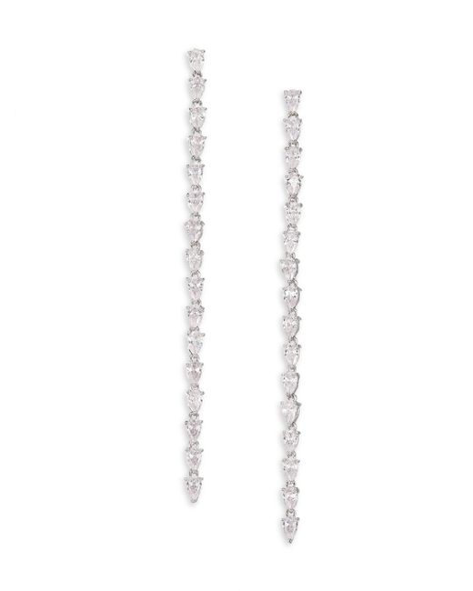 Fallon   Multicolor Monarch Marquis Crystal Linear Earrings   Lyst