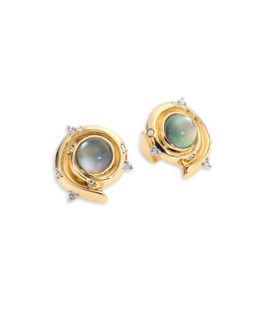 Alexis Bittar   Metallic Elements Crystal-studded Earrings   Lyst