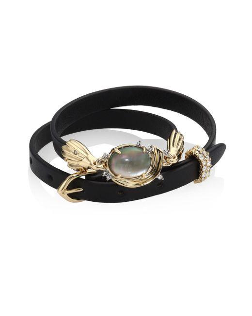 Alexis Bittar | Black Elements Golden Array Adjustable Wrap Bracelet/choker | Lyst
