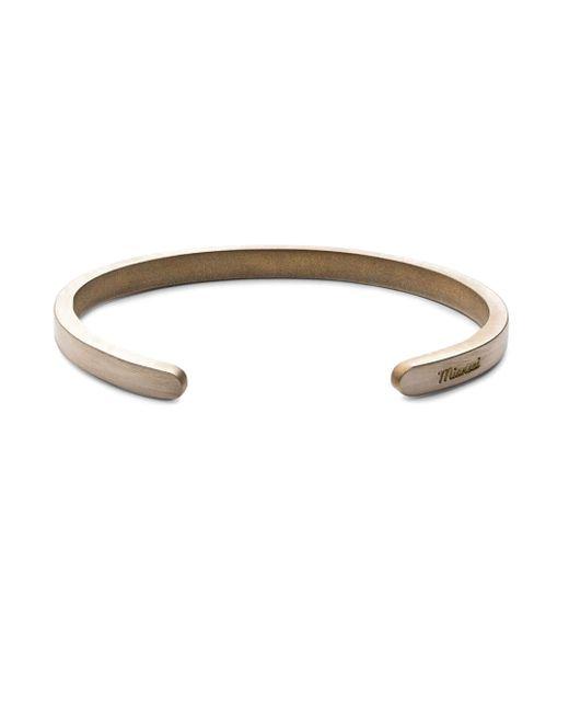 Miansai | Metallic Sterling Silver Singular Cuff Bracelet | Lyst