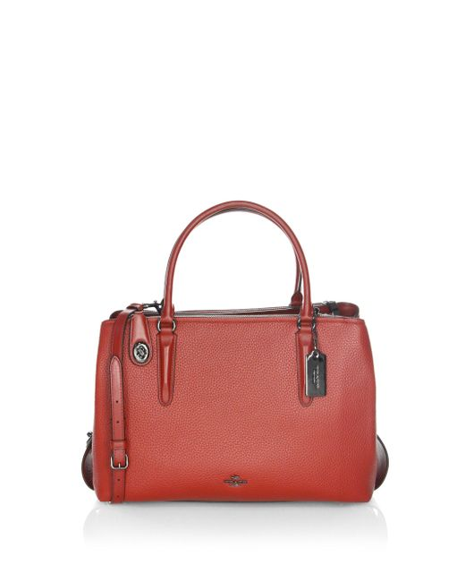 COACH | Multicolor Brooklyn Pebbled Leather Satchel | Lyst