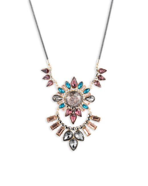ABS By Allen Schwartz | Metallic Make Me Blush Crystal Pendant Necklace | Lyst