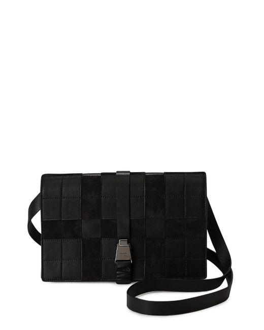 Akris | Black Alice Square Pattern Leather Crossbody Bag | Lyst