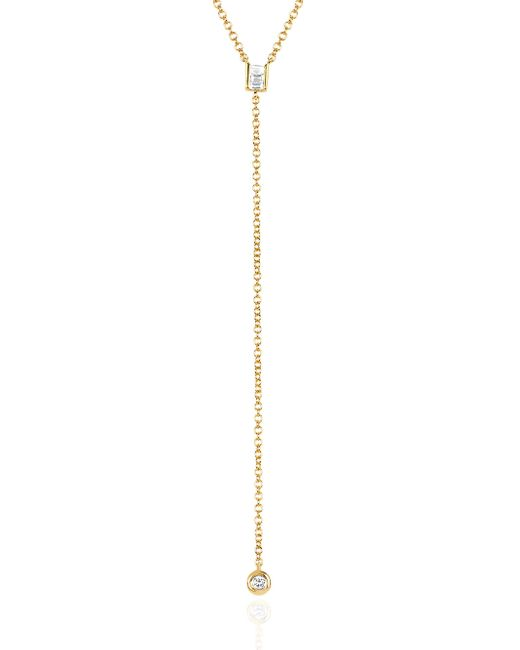 EF Collection | Metallic Diamond Lariat Necklace | Lyst