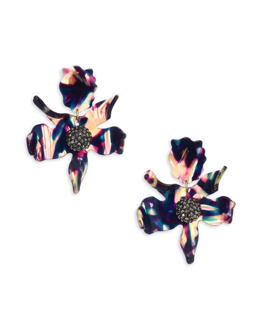 Lele Sadoughi | Blue Crystal Lily Clip-on Earrings | Lyst