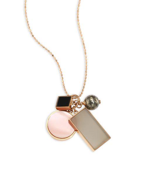 Ginette NY | Metallic Ever Frost Semi-precious Multi-stone Charm Necklace | Lyst