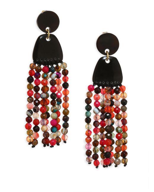 Nest | Multicolor Agate Tassel Earrings | Lyst