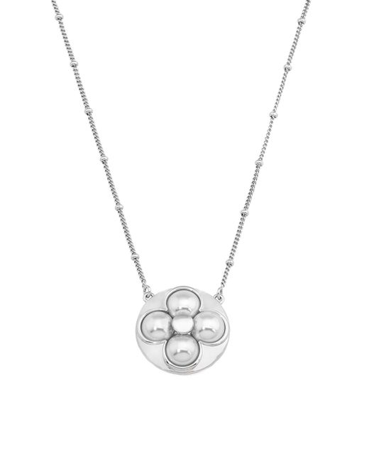 Majorica | Metallic Luck 8mm White Mabe Pearl & Sterling Silver Pendant Necklace | Lyst