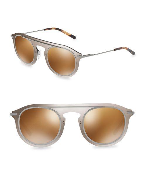 Dolce & Gabbana | Metallic 48mm Round Sunglasses | Lyst
