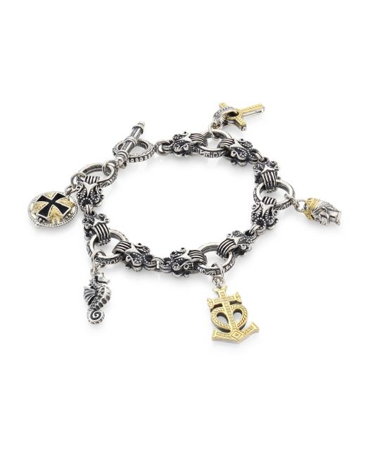 Konstantino | Metallic Gaia Sterling Silver Charm Bracelet | Lyst